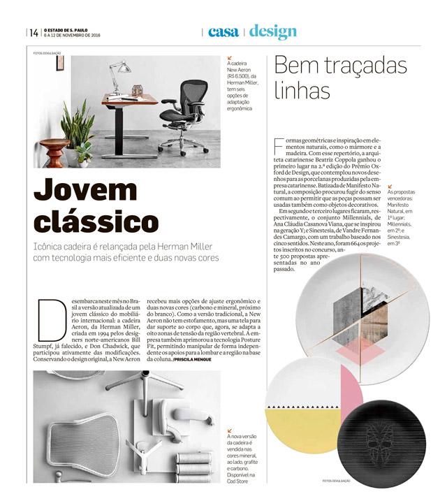 jornal_CadernoCasa_Estadão_06-11-2016_HermanMiller