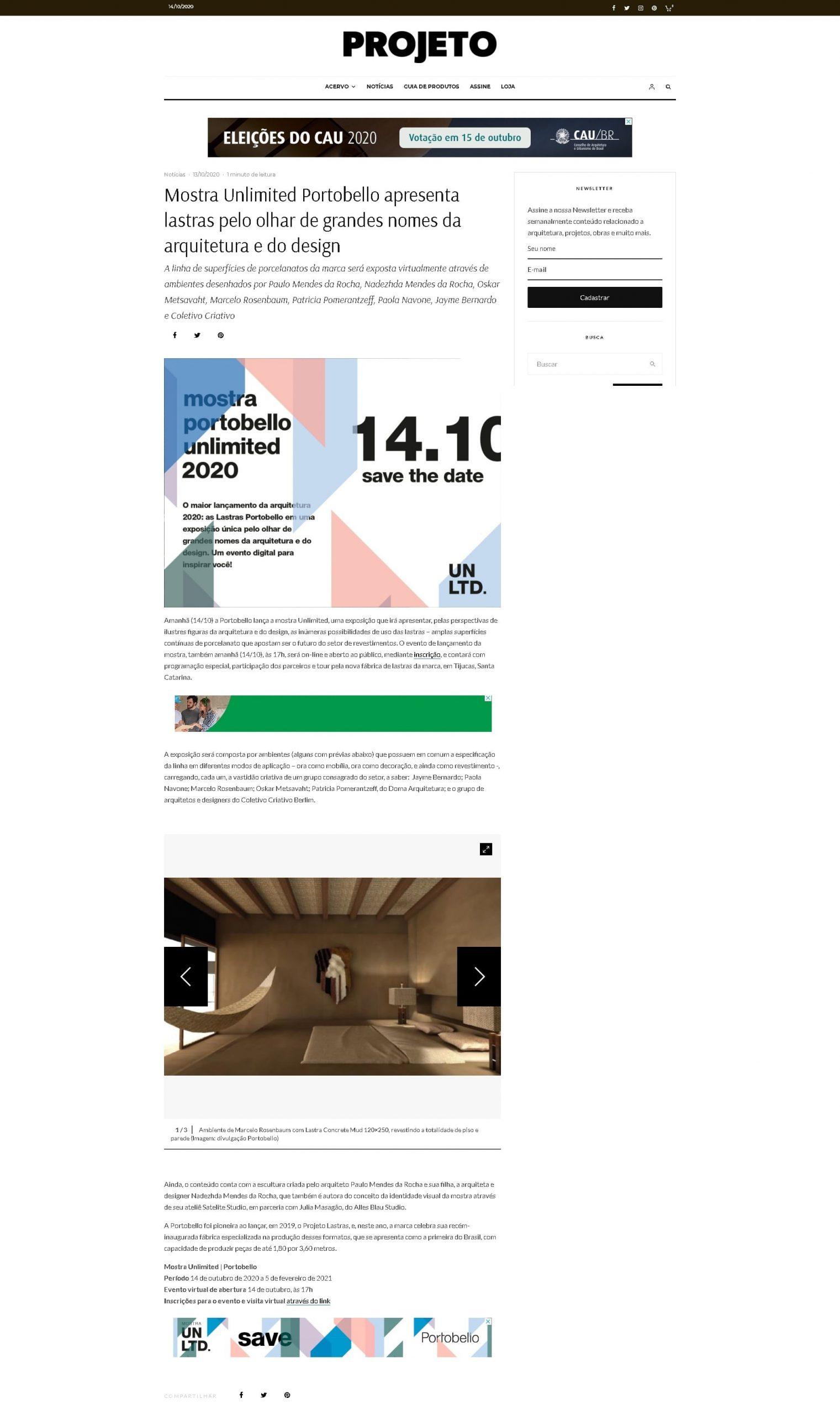 13.10.20_Revista Projeto_Mostra Unlimited